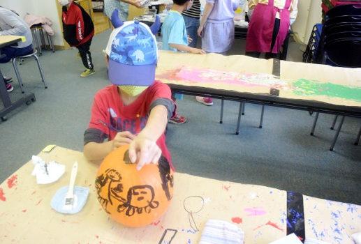 ハロウィンかぼちゃ色ぬり